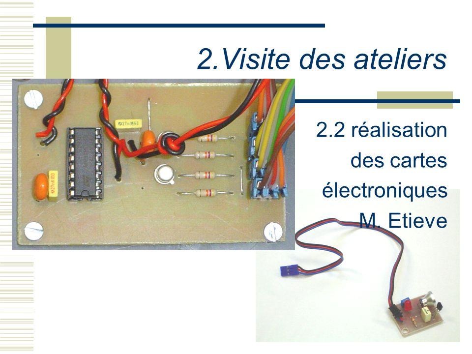 2.Visite des ateliers 2.2 réalisation des cartes électroniques