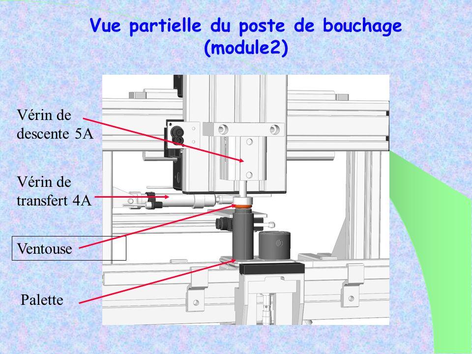 Vue partielle du poste de bouchage (module2)