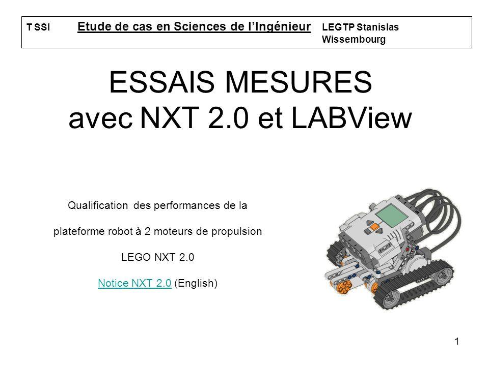 ESSAIS MESURES avec NXT 2.0 et LABView