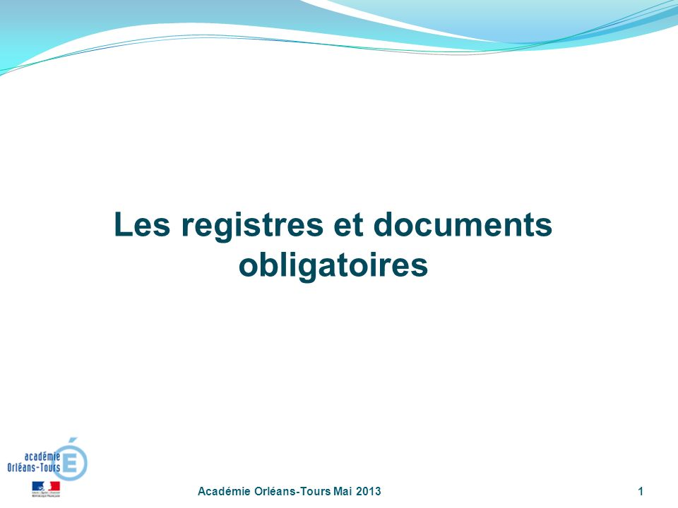 Les registres et documents obligatoires