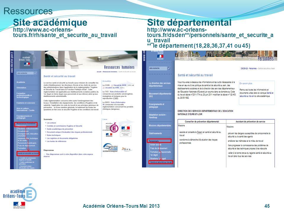 Ressources Site académique Site départemental