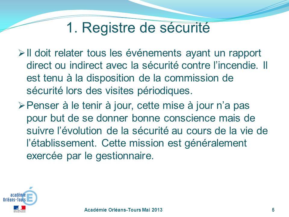 1. Registre de sécurité