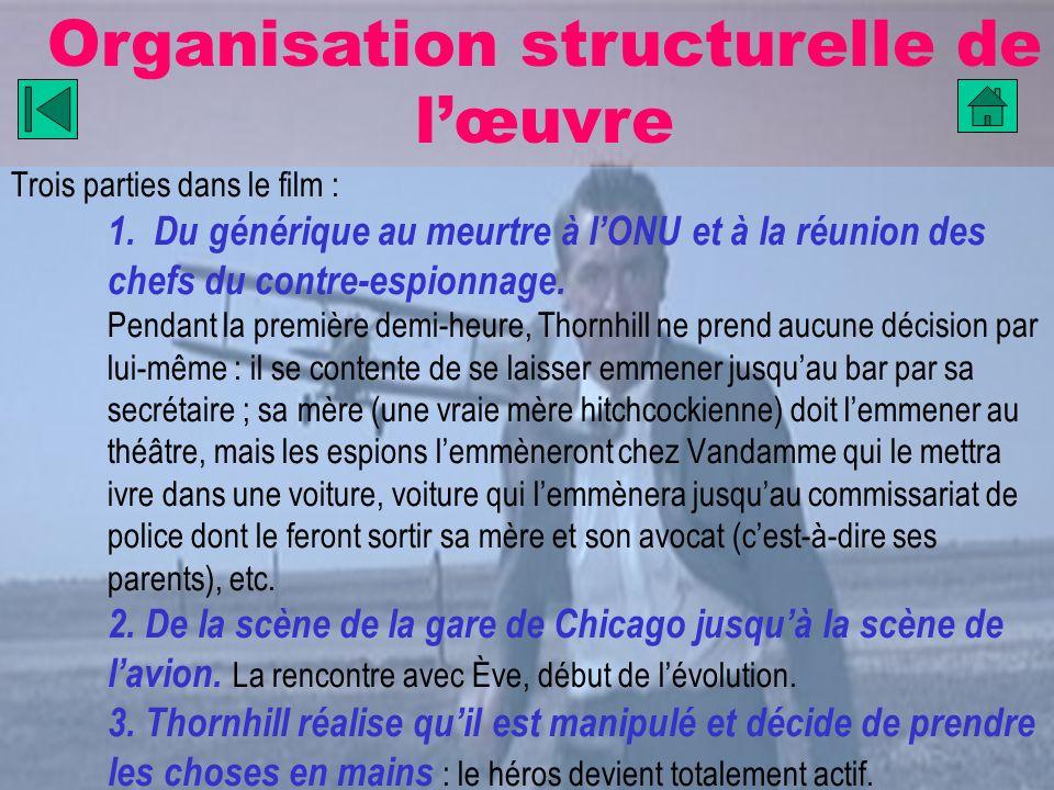 Organisation structurelle de l'œuvre