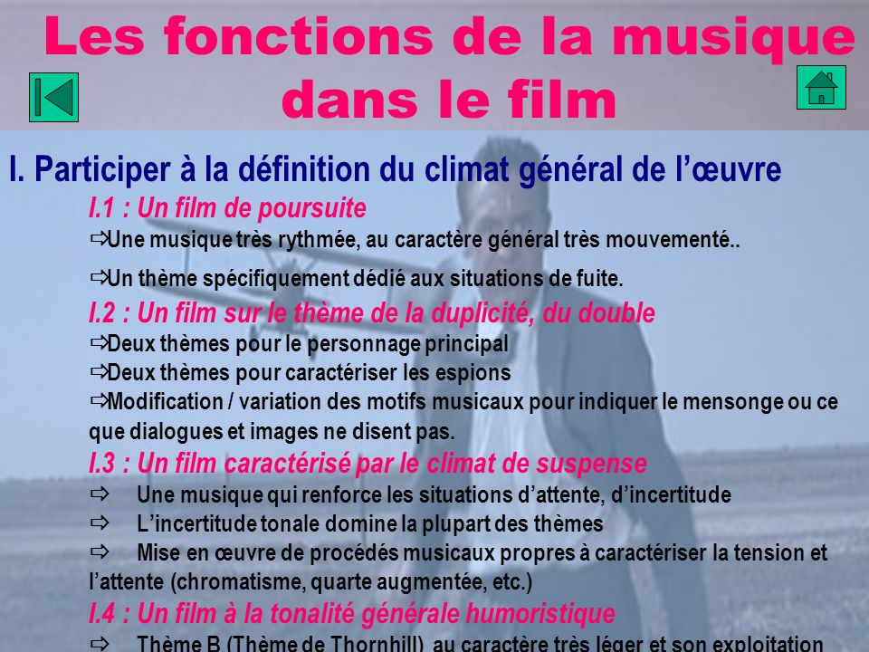 Les fonctions de la musique dans le film