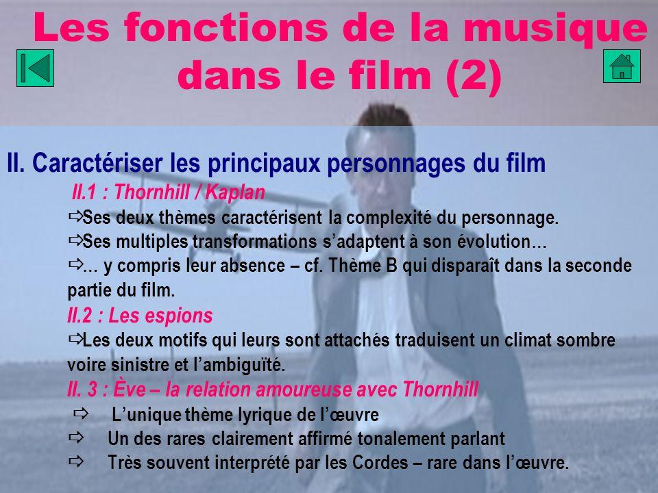 Les fonctions de la musique dans le film (2)