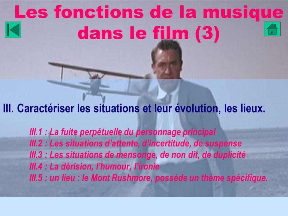 Les fonctions de la musique dans le film (3)