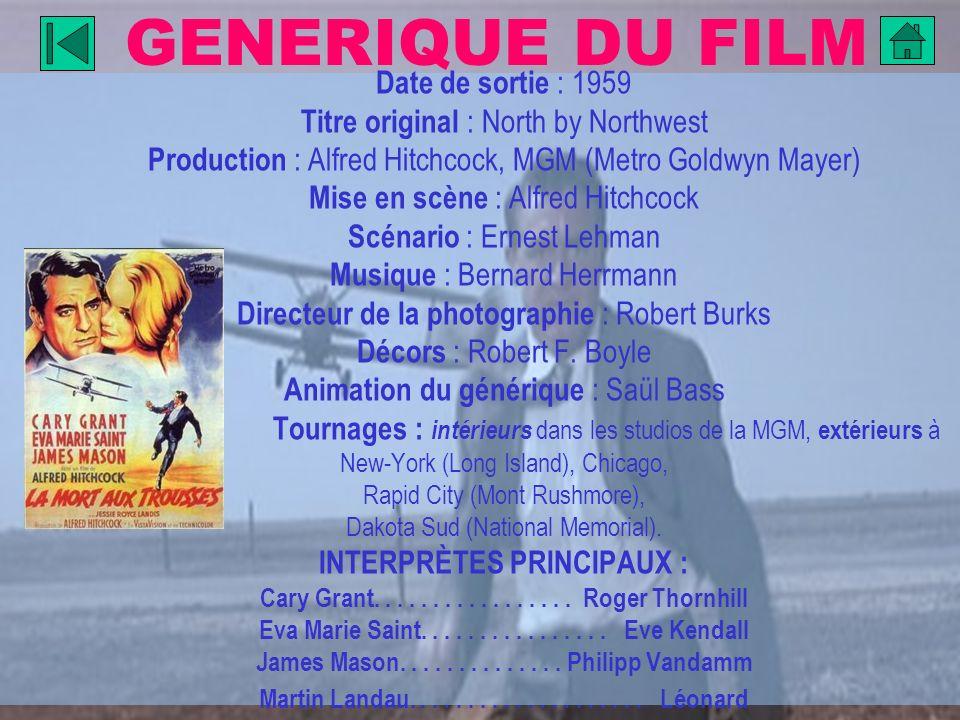 GENERIQUE DU FILM