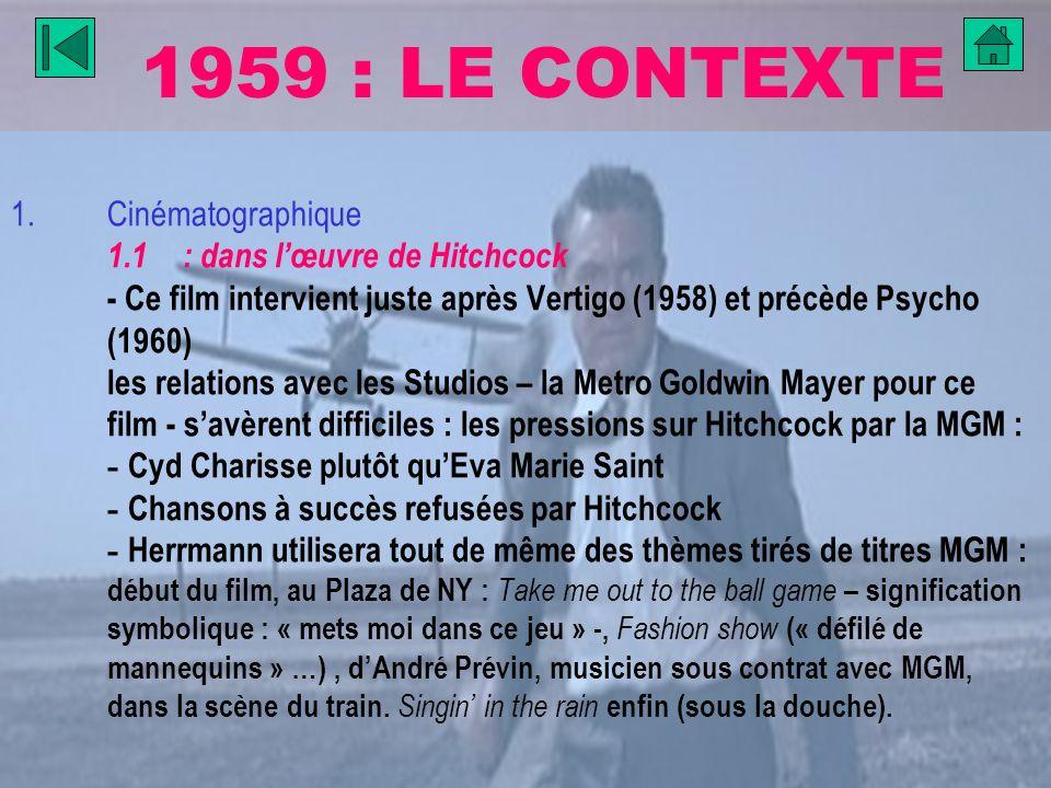 1959 : LE CONTEXTE