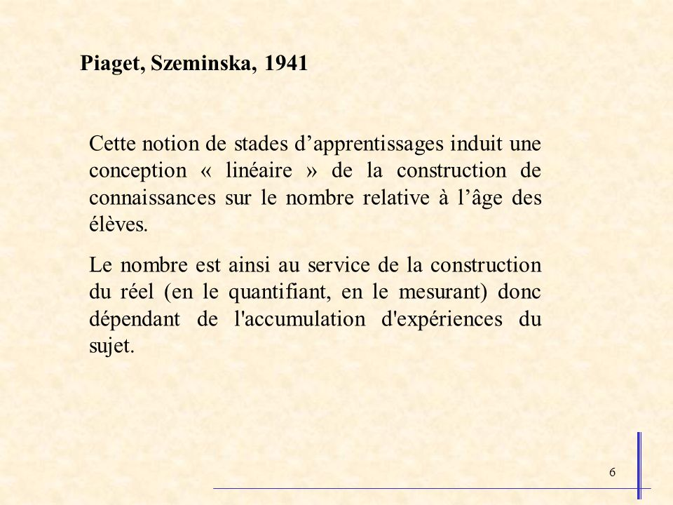 Piaget, Szeminska, 1941