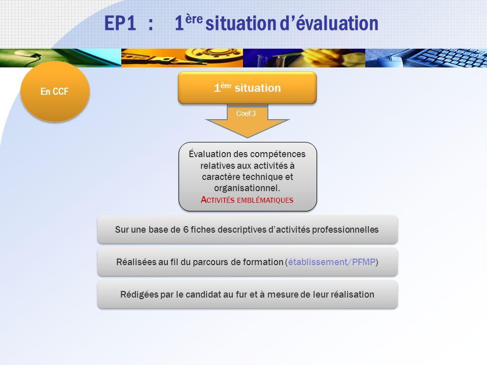 EP1 : 1ère situation d'évaluation