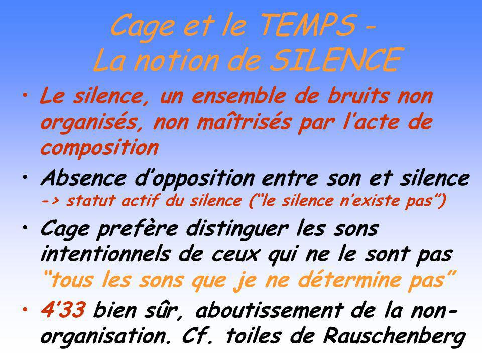 Cage et le TEMPS - La notion de SILENCE