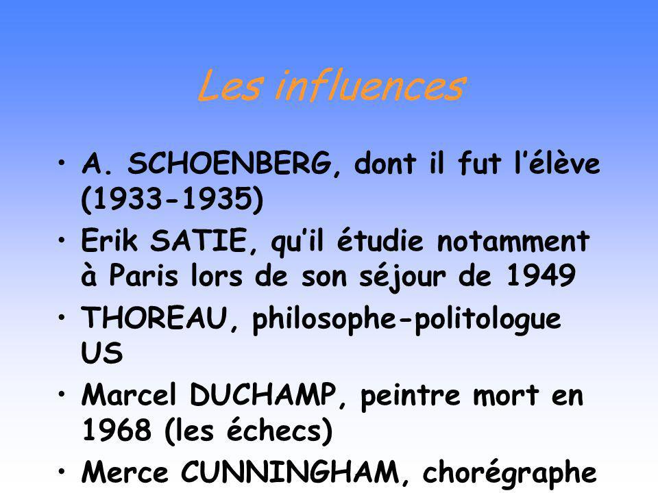 Les influences A. SCHOENBERG, dont il fut l'élève (1933-1935)