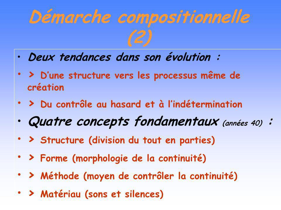 Démarche compositionnelle (2)