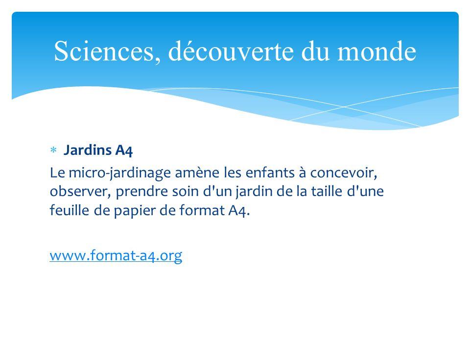 Sciences, découverte du monde