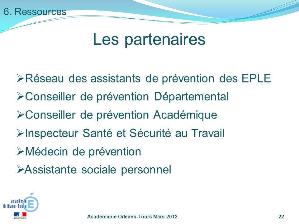 Les partenaires Réseau des assistants de prévention des EPLE