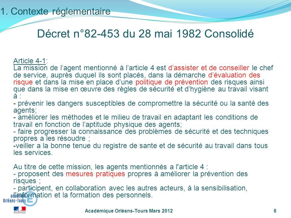 Décret n°82-453 du 28 mai 1982 Consolidé