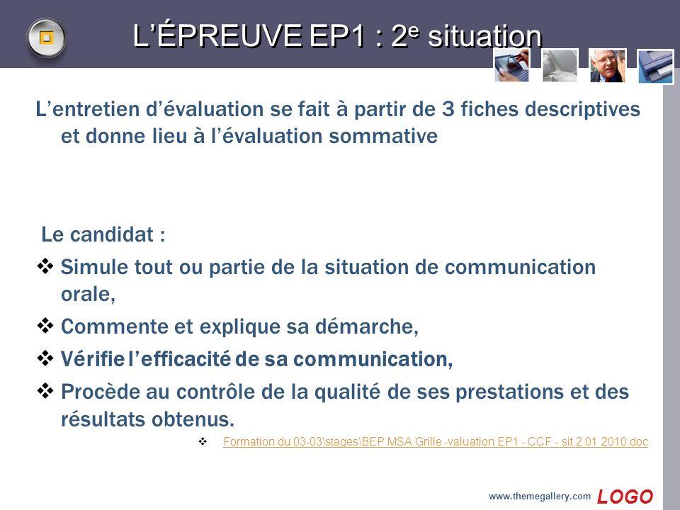 L'ÉPREUVE EP1 : 2e situation