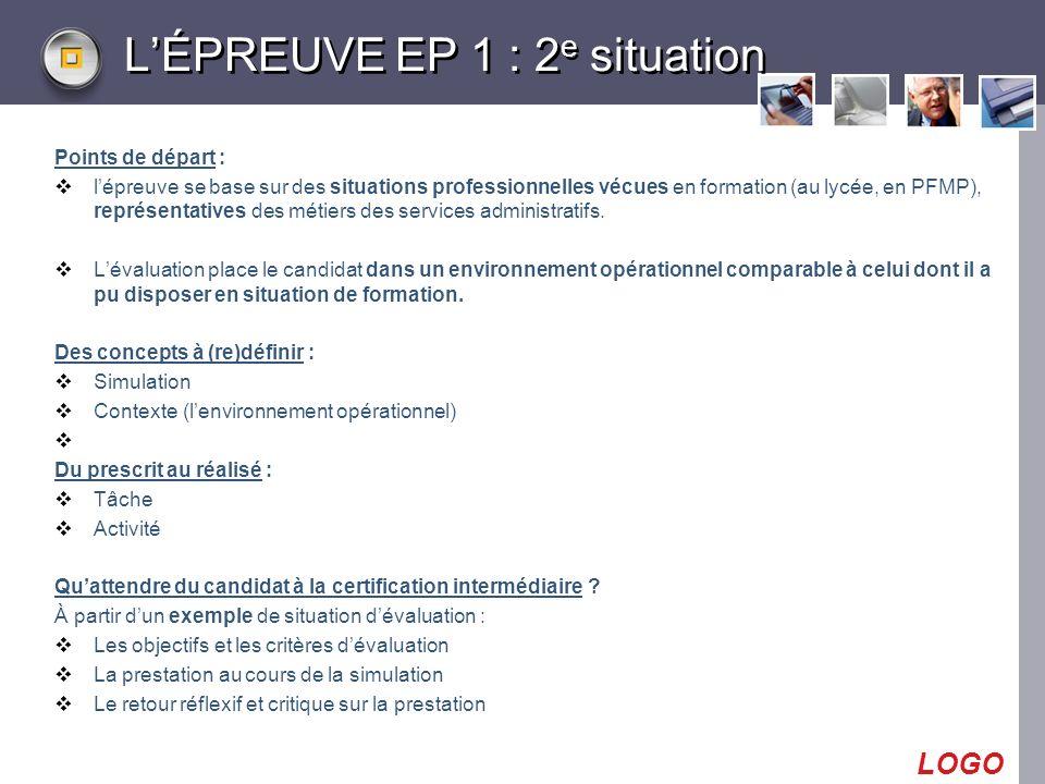L'ÉPREUVE EP 1 : 2e situation
