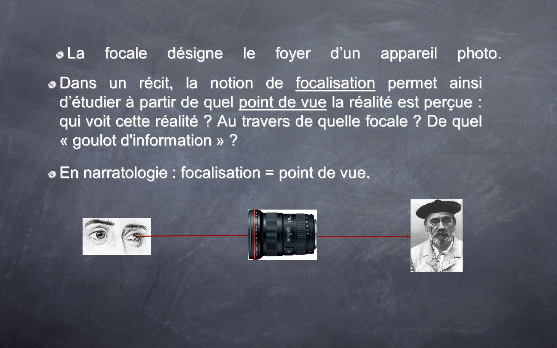 La focale désigne le foyer d'un appareil photo.