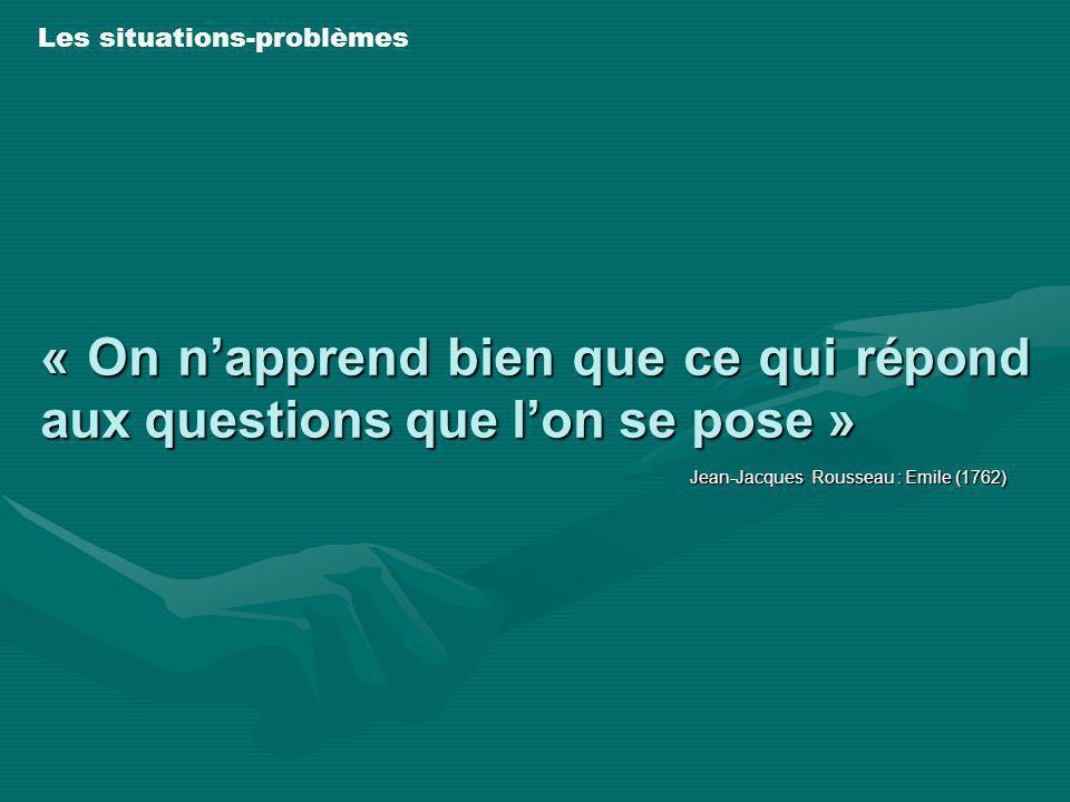 « On n'apprend bien que ce qui répond aux questions que l'on se pose »