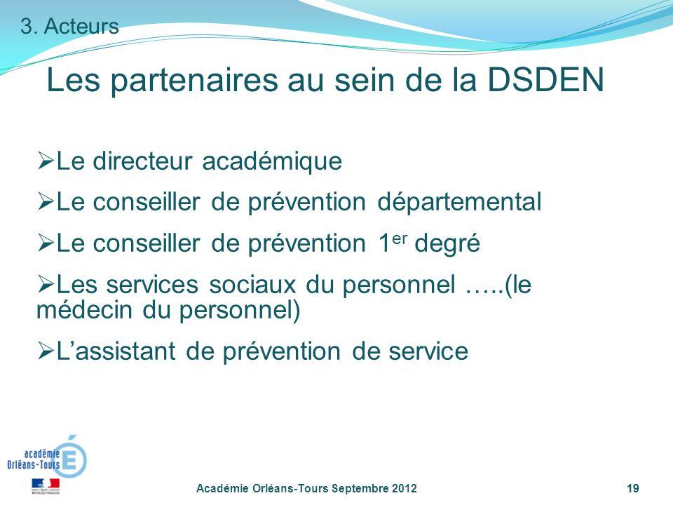 Les partenaires au sein de la DSDEN