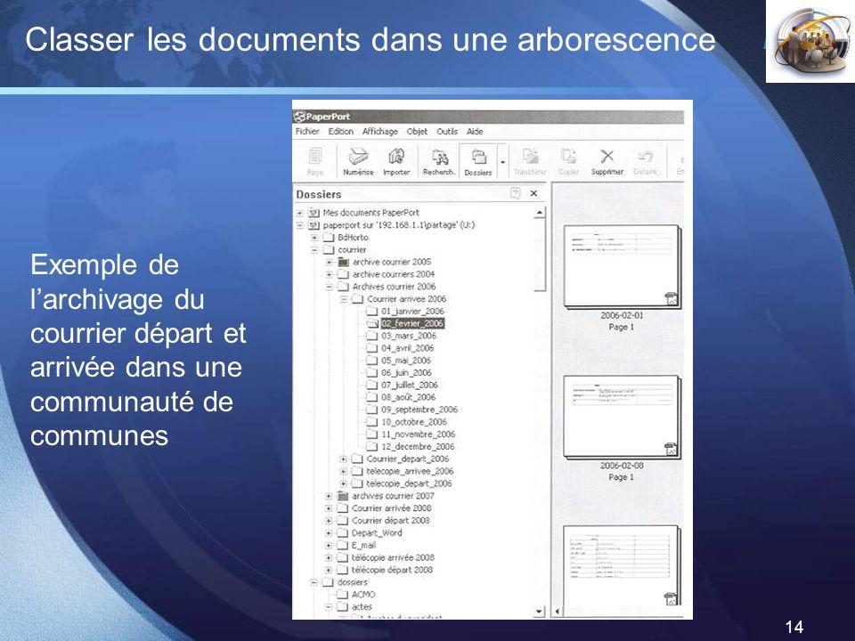 Classer les documents dans une arborescence