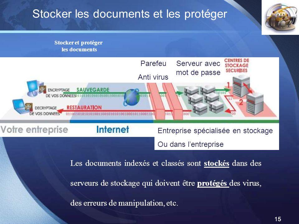 Stocker les documents et les protéger