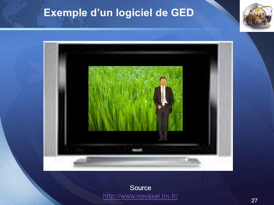 Exemple d'un logiciel de GED