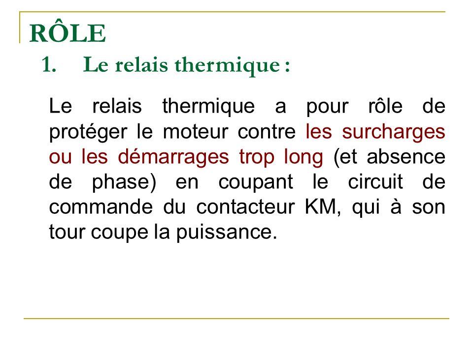 RÔLE Le relais thermique :