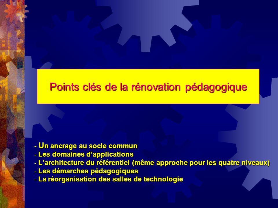 Points clés de la rénovation pédagogique