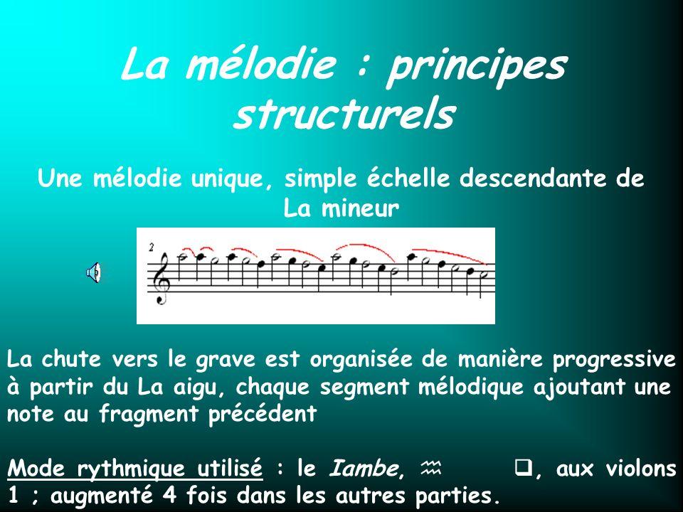 La mélodie : principes structurels