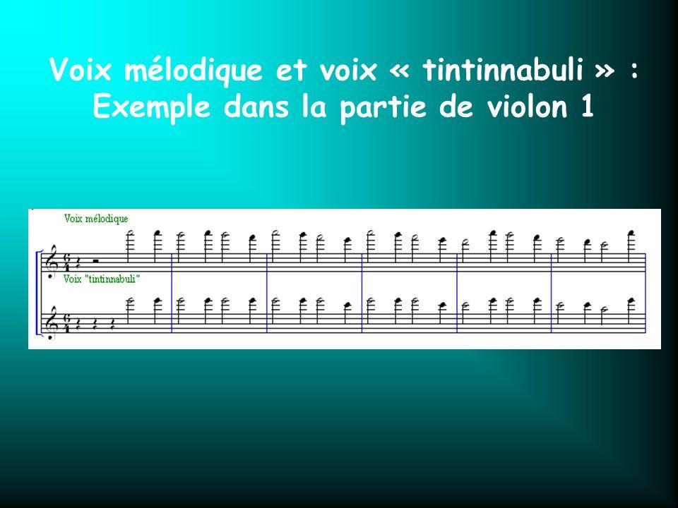 Voix mélodique et voix « tintinnabuli » :