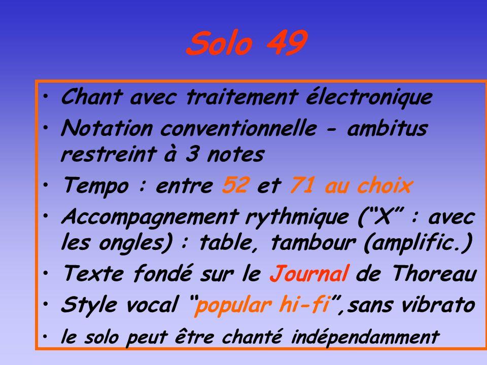 Solo 49 Chant avec traitement électronique