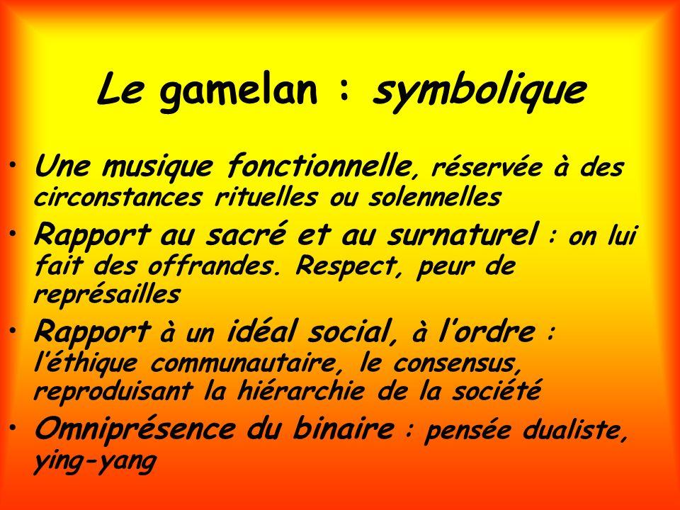 Le gamelan : symbolique