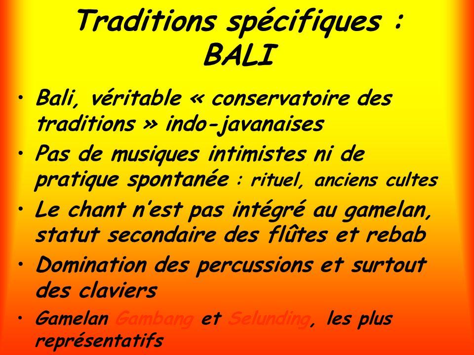 Traditions spécifiques : BALI