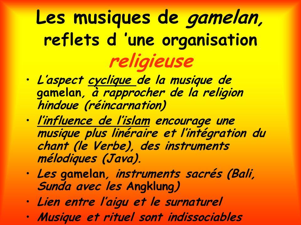 Les musiques de gamelan, reflets d 'une organisation religieuse