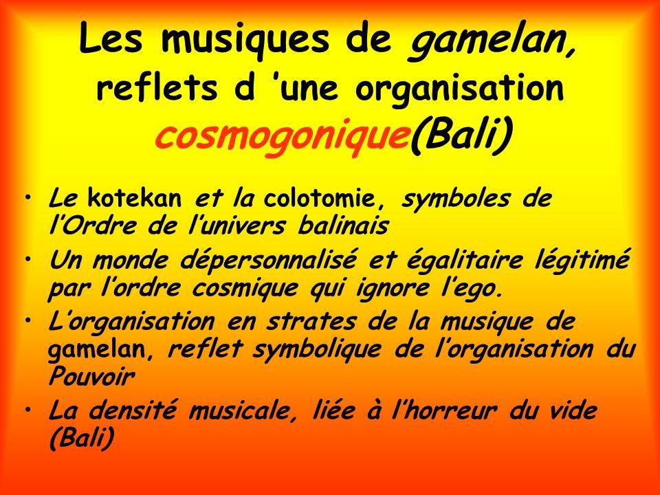 Les musiques de gamelan, reflets d 'une organisation cosmogonique(Bali)