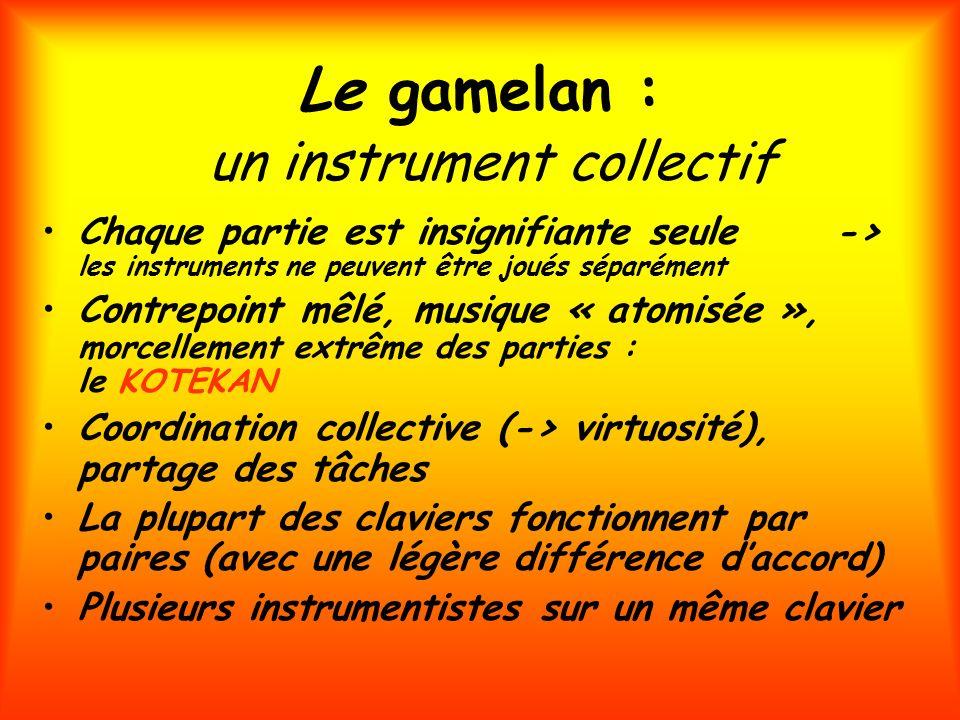 Le gamelan : un instrument collectif