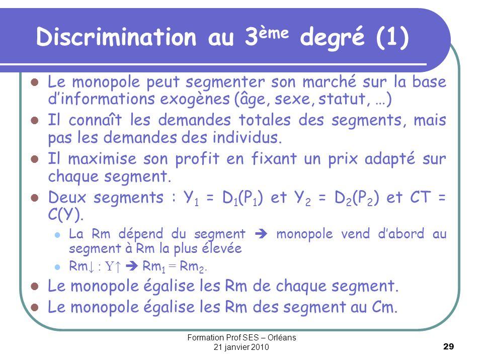 Discrimination au 3ème degré (1)