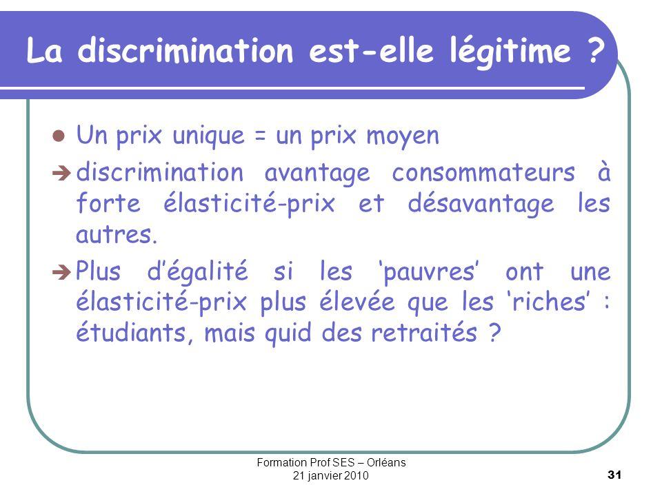 La discrimination est-elle légitime