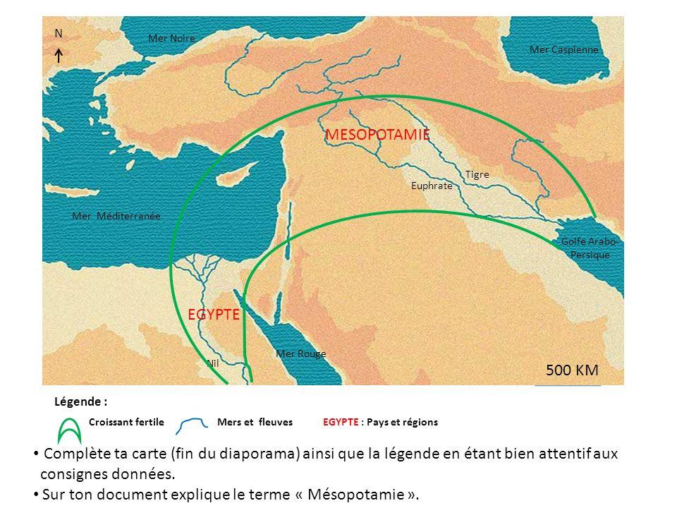 Sur ton document explique le terme « Mésopotamie ».