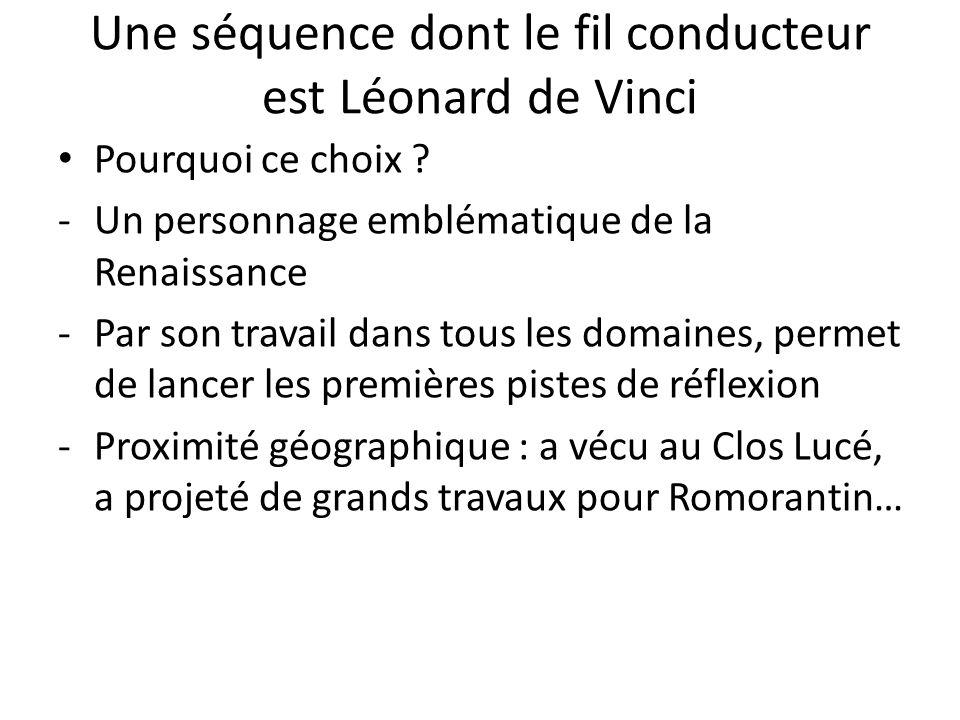 Une séquence dont le fil conducteur est Léonard de Vinci