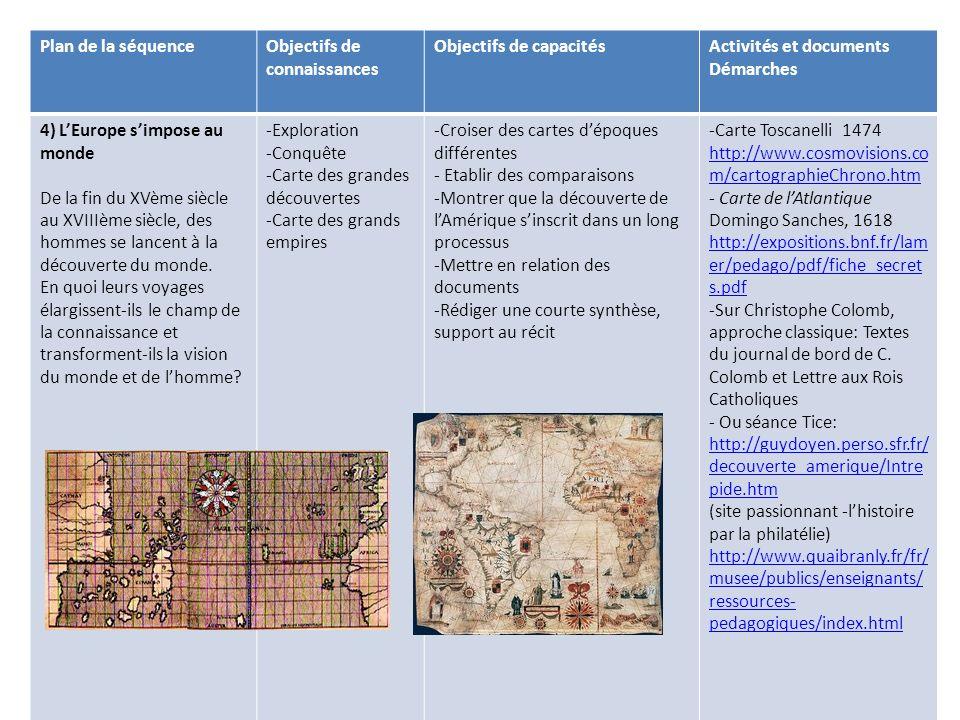 Plan de la séquence Objectifs de connaissances. Objectifs de capacités. Activités et documents. Démarches.