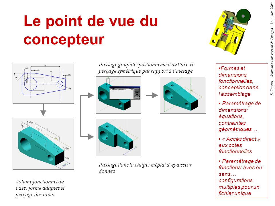 Le point de vue du concepteur