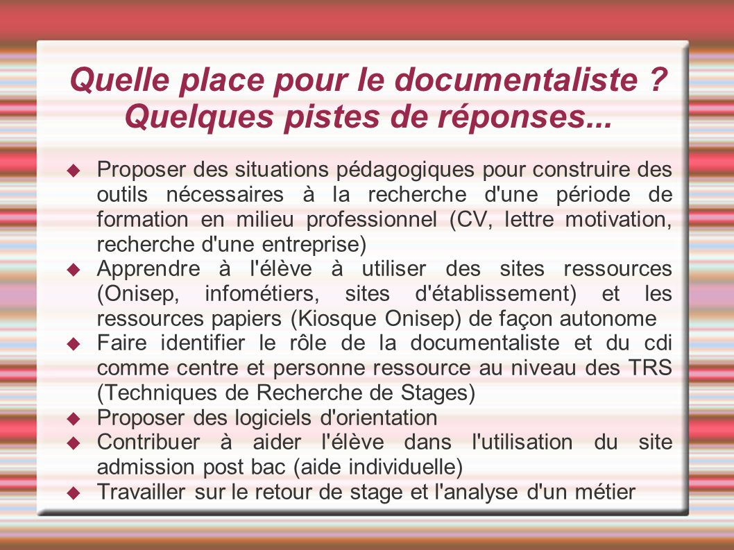 le professeur documentaliste et l u0026 39  u00e9ducation  u00e0 l