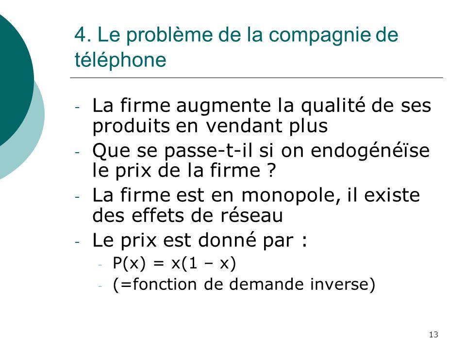 4. Le problème de la compagnie de téléphone