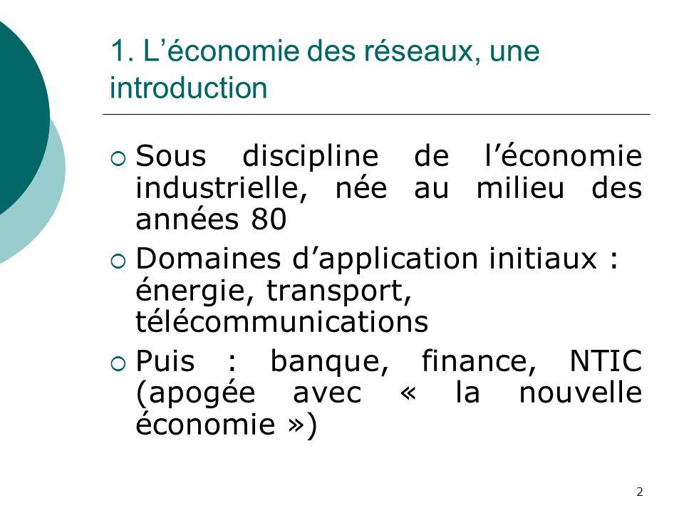 1. L'économie des réseaux, une introduction