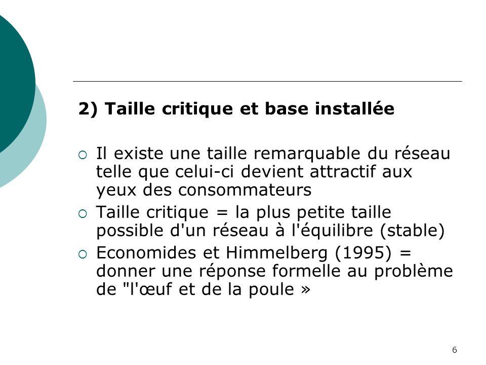 2) Taille critique et base installée