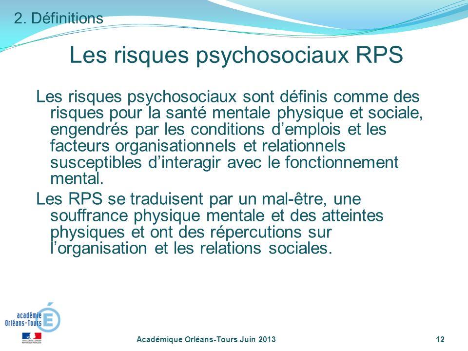 Les risques psychosociaux RPS