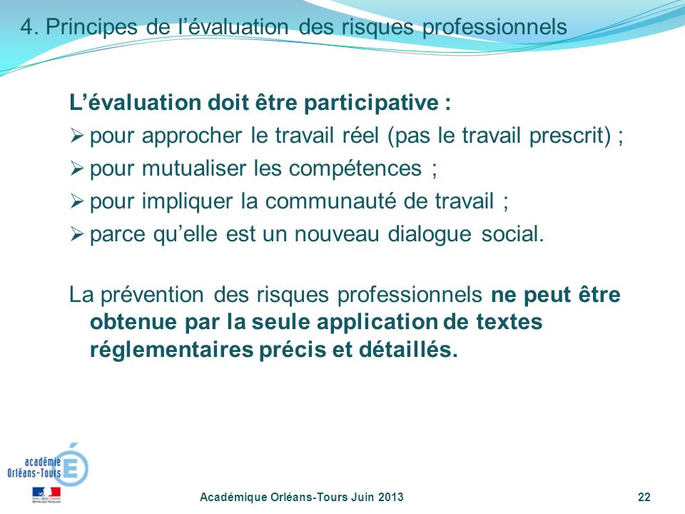 l u2019evaluation des risques professionnels